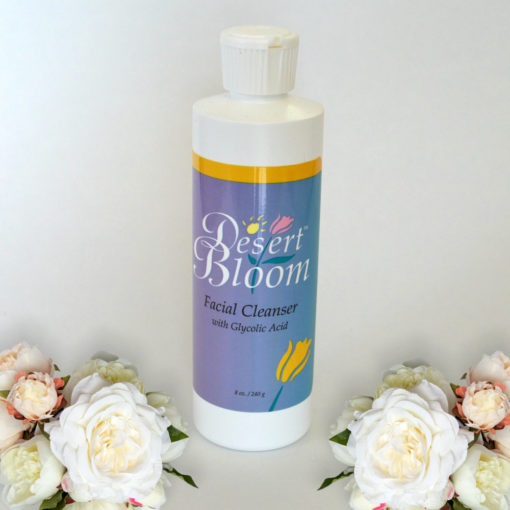 Facial cleanser with glycolic acid